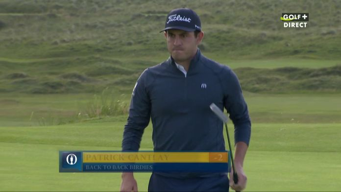 Cantlay passe à -2 back to back birdies