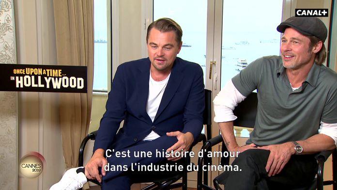 Brad Pitt et Leonardo DiCaprio en interview