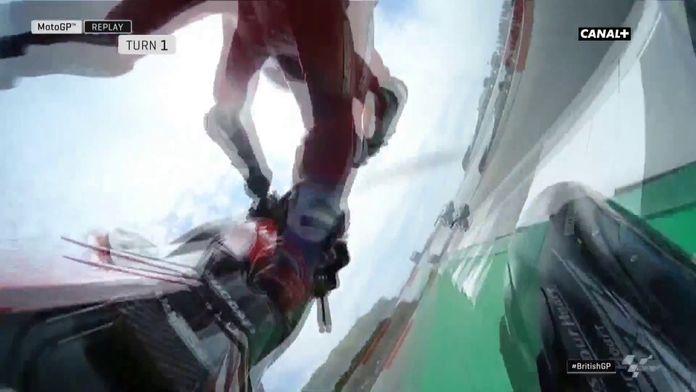 La grosse chute de Andrea Dovizioso