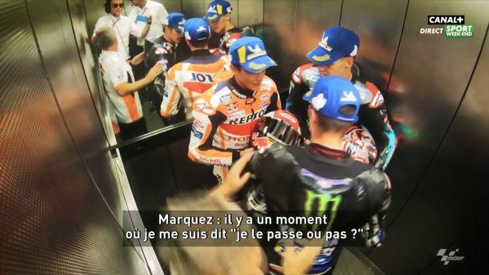 Echange sympa entre Quartararo et Marquez