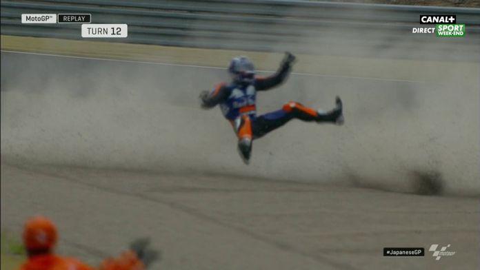 Le gros accident de Miguel Oliveira
