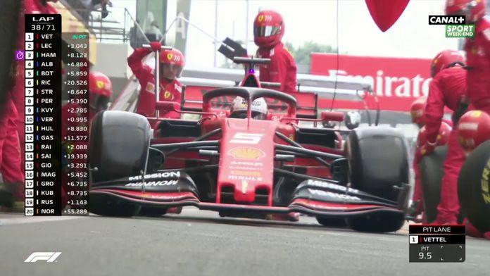 L'arrêt de Vettel
