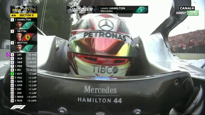 Victoire pour Lewis Hamilton