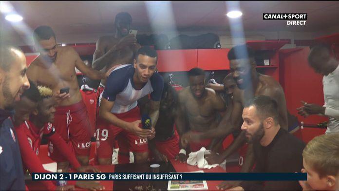 La joie des joueurs de Dijon après leur exploit face au PSG !
