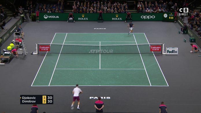 Lobé, Djokovic arrive à renverser la situation
