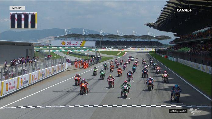 Le départ Moto 2 en Malaisie