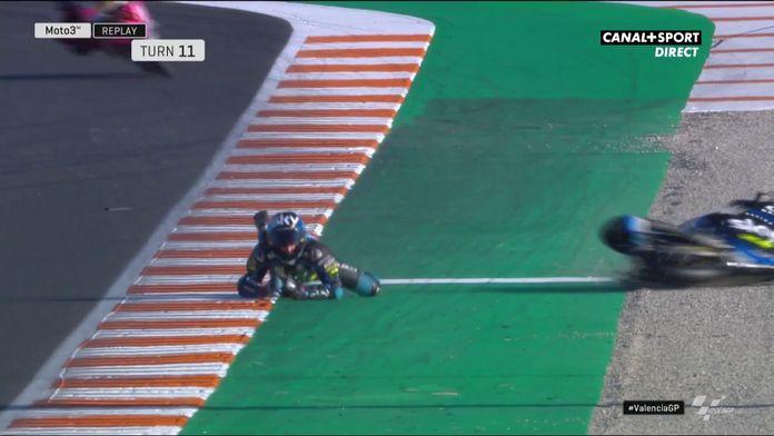 La chute de Celestino Vietti en fin de FP3 !