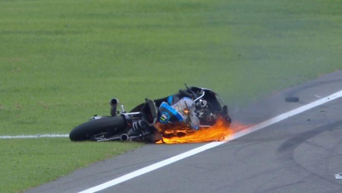 Drapeau rouge sur la course Moto 3 !
