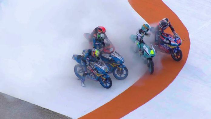 La victoire pour Sergio Garcia en Moto 3, 1er podium pour Artigas à son 1er GP