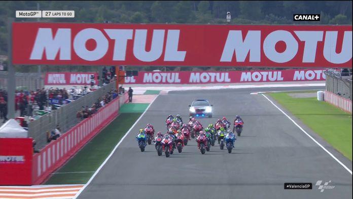 Le départ de la course Moto GP