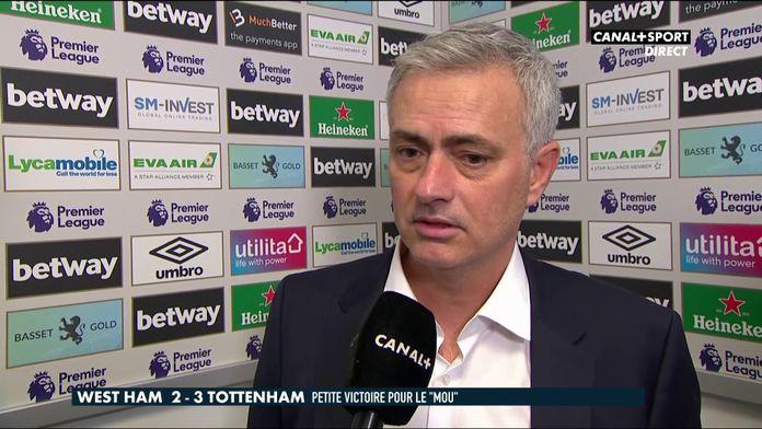 Première réaction de Mourinho après ses débuts avec Tottenham