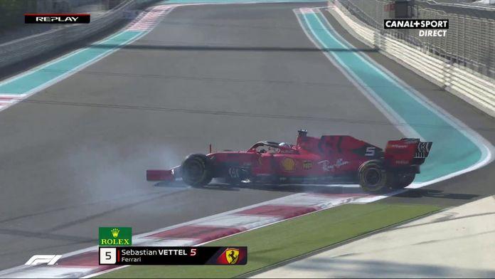 La sortie de piste de Vettel en FP1