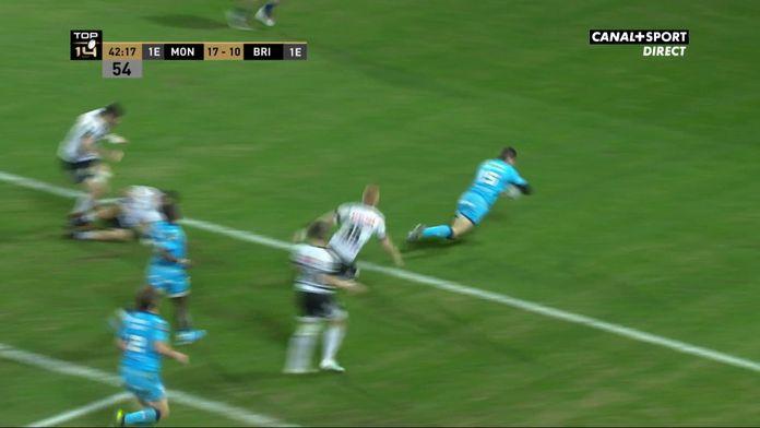 Anthony Bouthier conclut une belle action de Montpellier