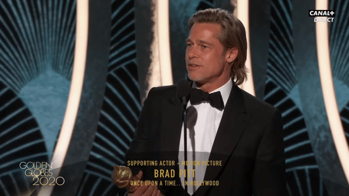 Brad Pitt - Meilleur Second Rôle pour Once Upon a Time in Hollywood - Golden Globes 2020