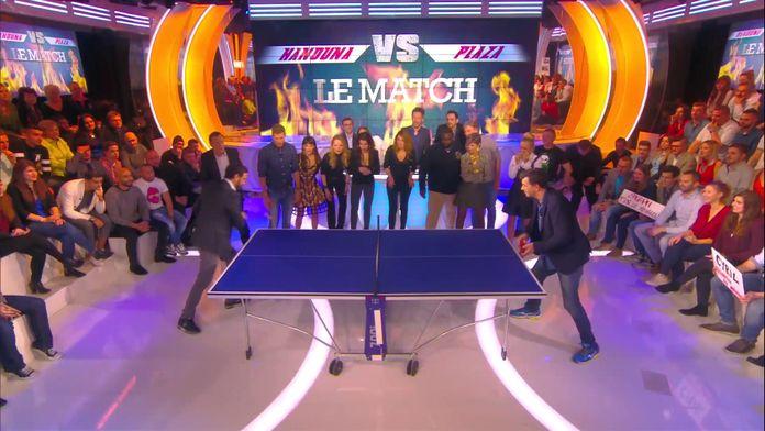 Le match de ping pong au sommet entre Cyril et Stéphane Plaza