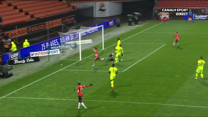 Pierre-Yves Hamel ouvre le score pour Lorient !