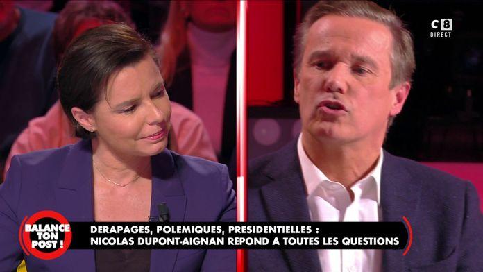 """Nicolas Dupont-Aignan revient sur les violences policières : """"Je les soutient !"""""""