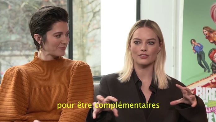 """L'interview de Margot Robbie et de l'équipe du film """"Birds of Prey"""" par Maxime Guény"""