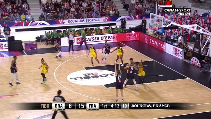 Le 3 points de Marine Johannès ! : France / Brésil