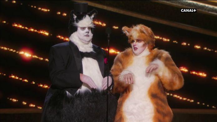 Rebel Wilson et James Corden à fond dans leur rôle de chat - Oscars 2020