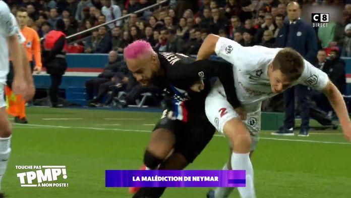 La malédiction de Neymar qui s'est encore blessé !