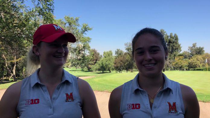 Charlotte Lafourcade et Laura Van Respaille à l'IJGA Collegiate Invitational : Golf
