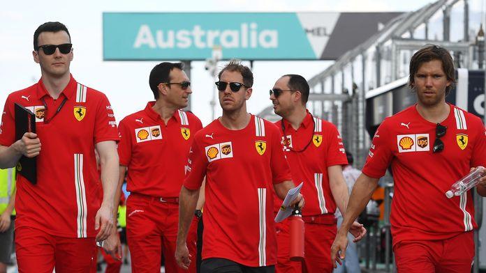 """Vettel : """"Personne ne m'a poussé ou frappé pour prendre l'avion"""""""