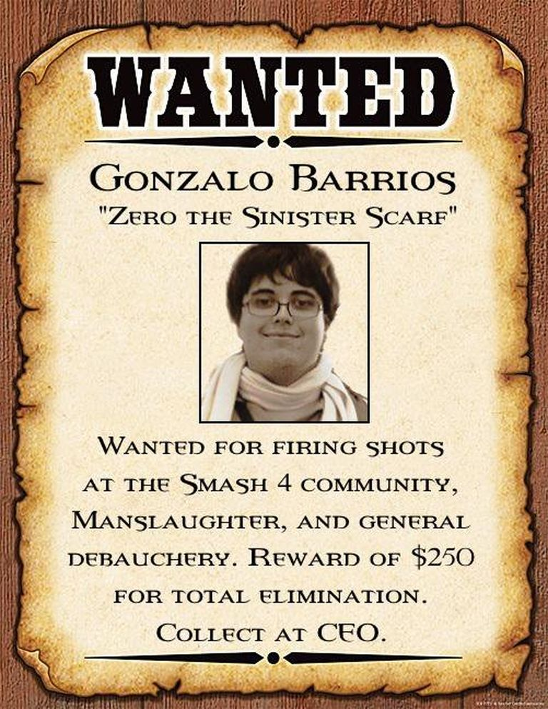 "Wanted Gonzalo ""ZeRo"" Barrios"