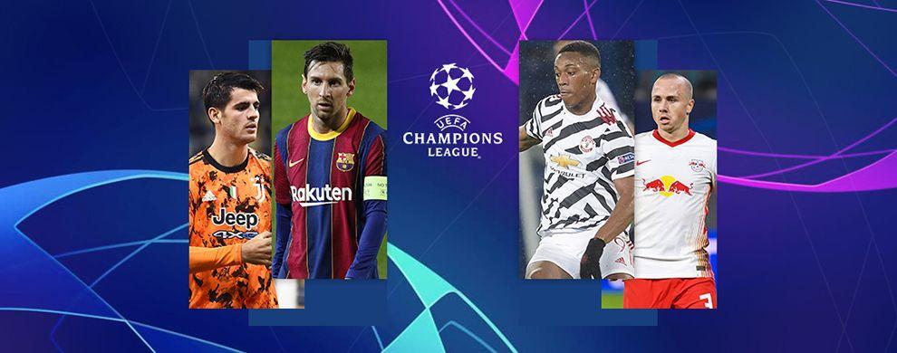 LIGUE DES CHAMPIONS DE L'UEFA - JUVENTUS / FC BARCELONE  -  MANCHESTER UNITED / RB LEIPZIG
