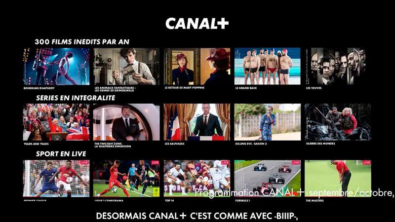 CANAL+, en 2019 c'est comme BIIIP
